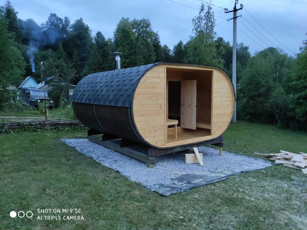 Баня-в-Овале 4x4 метра. Производство Баня-в-Бочке® (г.Пермь)