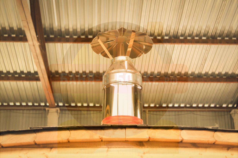 Труба установленная на печь Бани Бочки